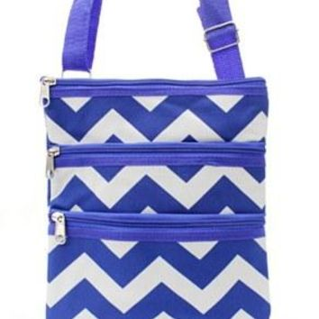 Chevron Print Messenger Bag - 5 Color Choices