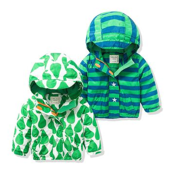 Brand Spring Children Jackets Plus Velvet Boys Outerwear Coat 2-8 Years Kids Hooded Waterproof Windproof Autumn Jacket For Boys