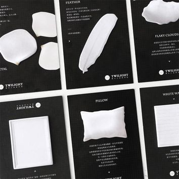 30Pcs/Pack Black White Lightbulb Milk Feather Notes Post it N Times Sticky Memo Pad Stationery Office Supplies M0431