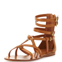 Tory Burch Lucas Leather Gladiator Sandal, Custom Tan
