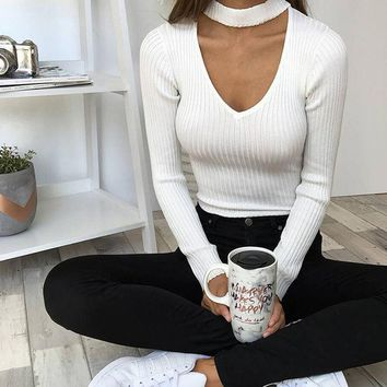 CREYL Women Long Sleeve White Bodysuit Autumn Knit Black Bodycon Rompers Women Jumpsuit Gray Overalls Slim Playsuits combinaison femme