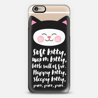 Soft Kitty, Warm Kitty... Transparent / Cat iPhone 6 case by Elisabeth Fredriksson | Casetify