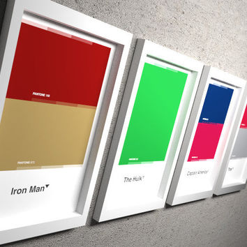 "The AVENGERS - pantone collection: 11x17 "" fine art prints"