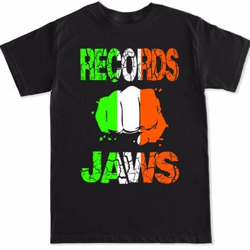 Break Records Break Jaws Conor Mcgregor Irish Flag T-Shirt - Men's Casual Tee