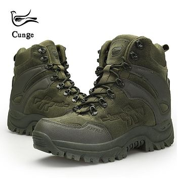 Men's Outdoor Hiking Shoes Military Army Tactical SWAT Combat Shoes Boots Anti-slip Anti-collision Trekking Shoes 4 Colors