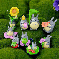 9 pcs  Mini My Neighbor Totoro Anime Figure DIY Moss Micro Landscape Toys TB