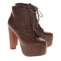 JEFFREY CAMPBELL  Lita Brown Plateau-Ankleboots - Accessories