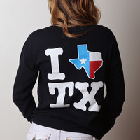 I Texas Texas Long Sleeve - Black