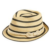 Women's Sole Society Woven Stripe Fedora