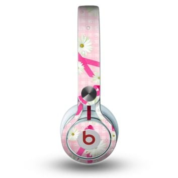 The Pink Ribbon Collage Breast Cancer Awareness Skin for the Beats by Dre Mixr Headphones