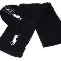 Ralph Lauren knitted hat & Scarf 015#