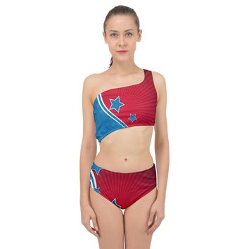 Abstract American Flag Background 23 2147507240 Spliced Up Two Piece Swimsuit
