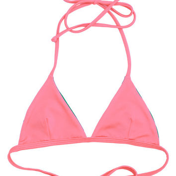 Kovey - Peaks Reversible Triangle Bikini Top (Peachy/Vine)