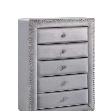 Sophie Grey Velvet Chest