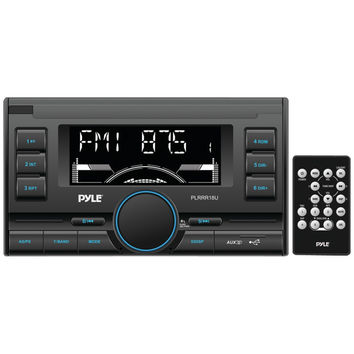 PYLE Double-DIN In-Dash Mechless Digital Receiver with USB/SD Memory Card Reader