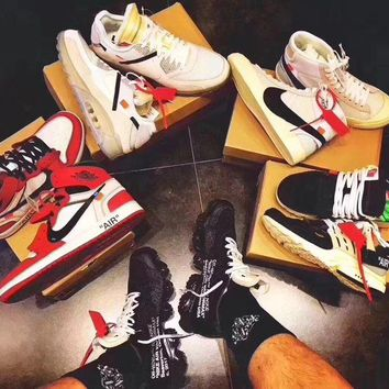 ONETOW OFF WHITE x Nike Custom Made The 10 : Blazer Studio | Zoom Vaporfly | Air More Uptempo | Air Max 90 Ice | AIR Presto OW | Air Force 1 | Air Max 97 OG | Air VaporMax | Jordan 1 Sport Shoes Sneaker
