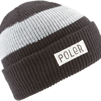 Poler Workerman Stripe Beanie - Black/Grey
