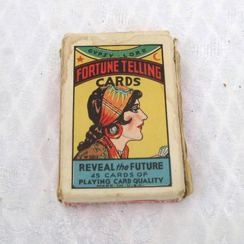 Vintage 1920s tarot cards, Gypsy Lore Fortune Telling Cards