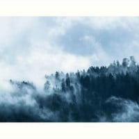 'Fog Forest Mointain' Impression artistique by Creative-World