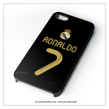 Real Madrid Ronaldo Cr7 Jersey iPhone 4 4S 5 5S 5C 6 6 Plus , iPod 4 5 , Samsung Galaxy S3 S4 S5 Note 3 Note 4 , HTC One X M7 M8 Case