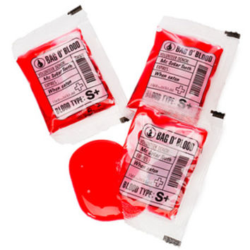 Mini Blood Bags Liquid Candy Pouches: 12-Piece Bag