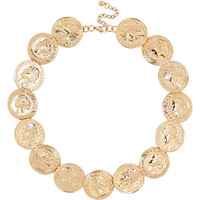 River Island Womens Gold tone coin repeater necklace