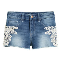 H&M Denim Shorts with Lace $14.99