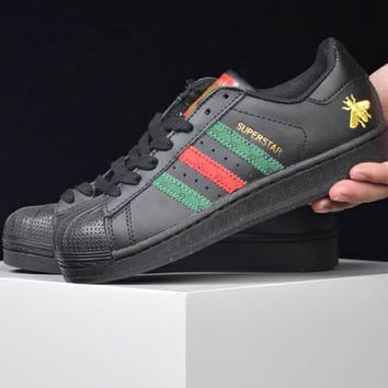 Adidas Clover Superstar Gucci Joint Shell Shoes F-CSXY full black
