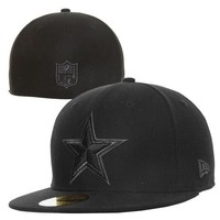 New Era Dallas Cowboys Basic Logo 59FIFTY Fitted Hat - Black