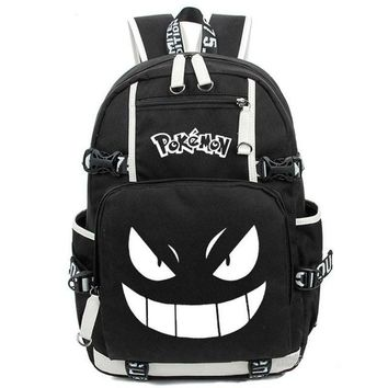 Anime Backpack School 2018 new kawaii cute Pokemon Gengar Luminous Backpack Printing Cosplay Backpacks School Bags for Teenager Girls Boys Mochila Feminina AT_60_4