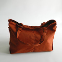 SALE - Mia in Pumpkin // shoulder bag / messenger bag / diaper bag / School bag / laptop / tote bag / women / For Her