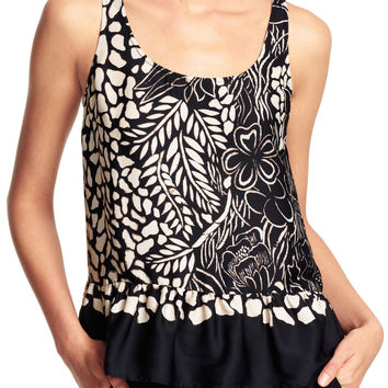 Drop Waist Tank with Macreme Back - Adrianna Papell