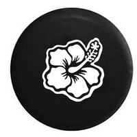 Hibiscus Hawaiian Tropical Flower RV Camper Jeep Spare Tire Cover