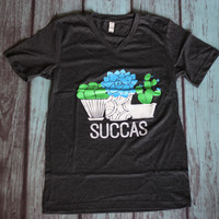 Succas For Succulents!- Casual Tee