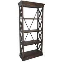 Grand Junction Wood Bookcase By Crestview Collection Cvfzr1051