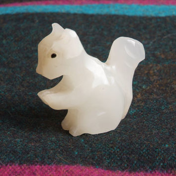 Hand Carved Mexican Alabaster Squirrel