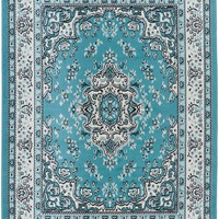 5090 Light Blue Isfahan Oriental Area Rugs
