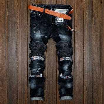 Men Hot Sale Slim Strong Character Fashion Jeans [454561857565]