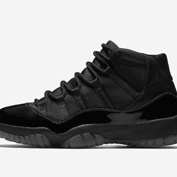 "[Free Shipping]Air Jordan 11 ""Blackout"" 378037-005 Basketball Sneaker"