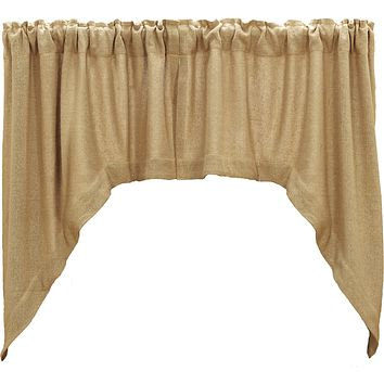 Burlap Natural Swag Curtains