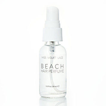 Beach Hair Perfume Mist Organic Coconut Natural Vegan 1.2 Oz. Travel Size By Miss Violet Lace