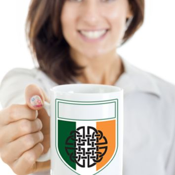 Irish Family Name Personalized Coffee Mug White Ceramic St. Patrick's Day Gifts Cup For Tea, Coffee & Candy