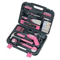 Apollo Precision Tools 135-pc. Household Tool Set (Pink)