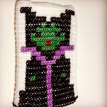 Maleficent iPad/Tablet Case - Sleeping Beauty Maleficent Handmade Crochet Pouch/Clutch/Bag/Cover
