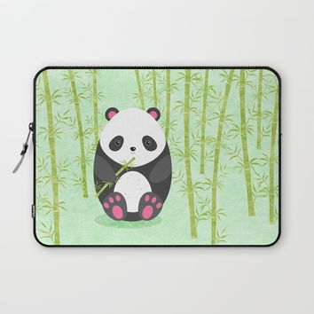 Panda Laptop Sleeve by EDrawings38 | Society6
