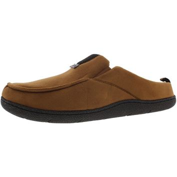 Dearfoams Mens Memory Foam Indoor/Outdoor Sole Clog Slippers