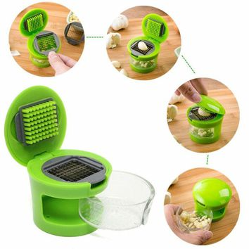 mini hot sales Practical Home Kitchen Vegetable Tool Kit Garlic Press Chopper Slicer Hand Presser Garlic Grinder Onion Chopper