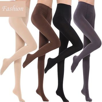 Spring and Autumn Women's Pantyhose Fashion Quality Solid Thick Thin Black Hosiery Simple Skin Color Silk Tights Female