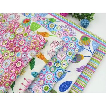 Colorful Summer Style Cotton Fabric for Sewing,Patchwork,Home Decoration,Cushions,Pillows and Quilting Crafts