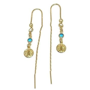 Virgin Charms Threaders Earrings 18K of Gold-Filled